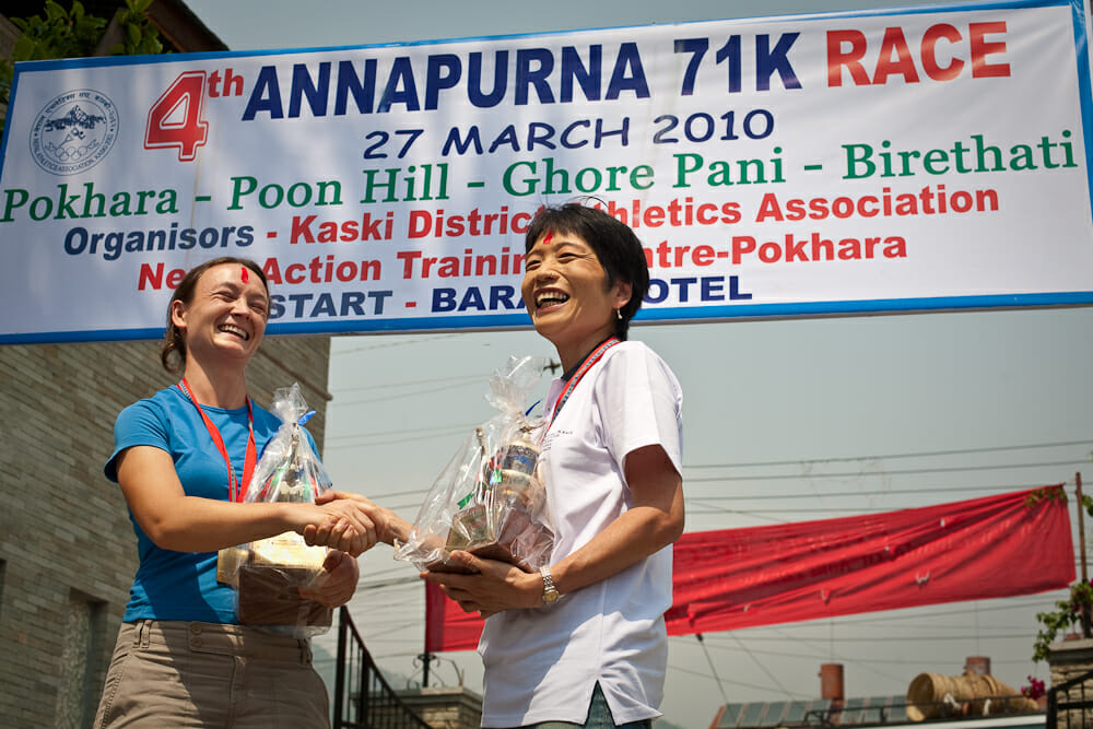 moire and miki winners of 2010 71km arce annapurna 100