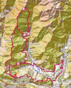 Annapurna 100 route map
