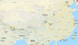 china nepal map
